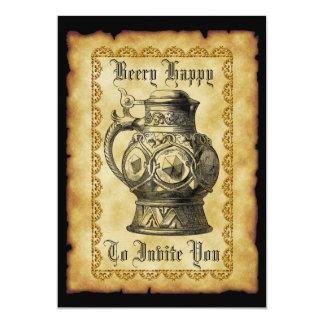 Beery glückliche 12,7 x 17,8 cm einladungskarte