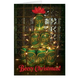 Beery Weihnachten - beleuchtete Dosen des Karte