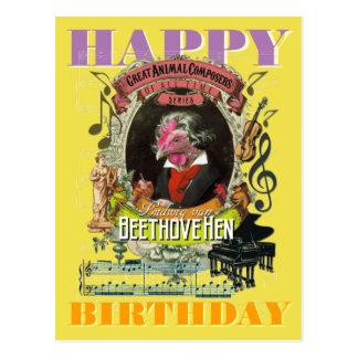 Beethovehen Beethoven alles Gute zum Geburtstag Postkarte