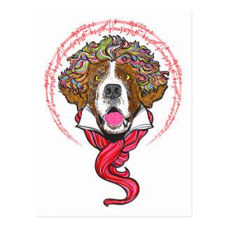 Beethoven-Hund Postkarte