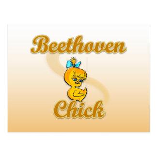 Beethoven-Küken Postkarte