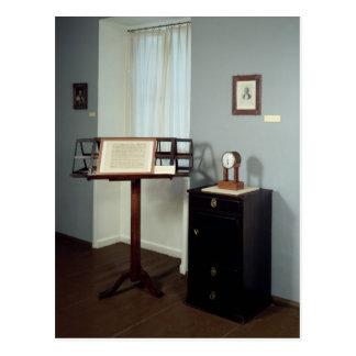 Beethoven-Raum, der ein Notenpult anzeigt Postkarte