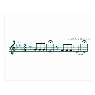 Beethoven-Symphonie-Nr. 5 Postkarte