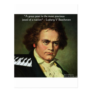 Beethoven u. Dichter/Edelsteine zitieren Postkarte