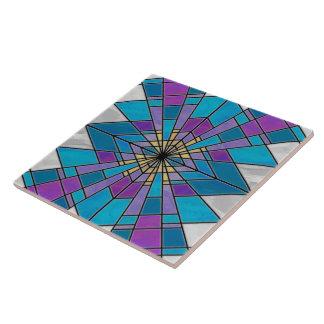 Beflecken Sie Glasstrahl blau und lila Keramikfliese