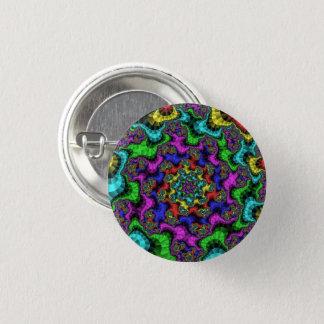 Beflecktes Glas-Fraktal-kleiner Knopf Runder Button 2,5 Cm