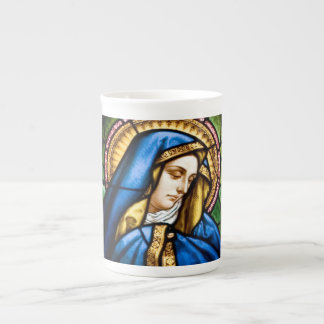 Beflecktes Glas-Knochen-China-Tasse St Mary Prozellantasse