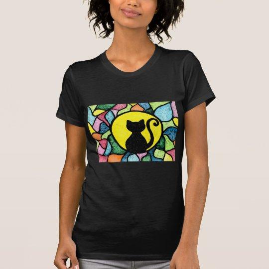 Beflecktes Glaskitty-T - Shirt
