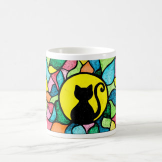 Beflecktes GlasWatercolorkitty-Tasse Kaffeetasse