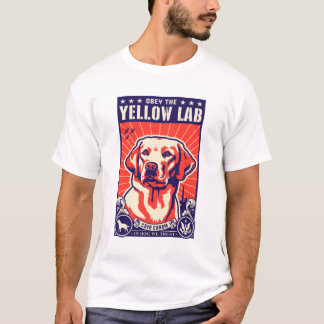 Befolgen Sie den gelben Labrador! T-Shirt