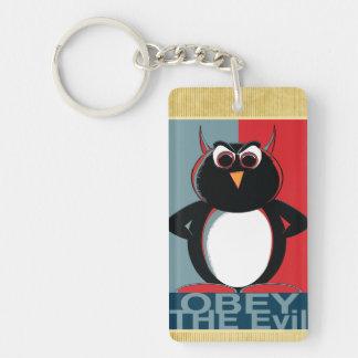 Befolgen Sie den schlechten Pinguin Schlüsselanhänger