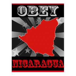 Befolgen Sie Nicaragua Postkarte