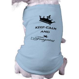 beFragrant Hündchen-gewelltes Trägershirt Shirt
