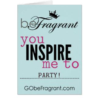 """beFragrant """"Sie inspirieren mich zum Party"""" Karte"""