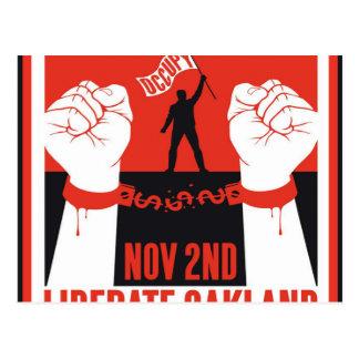 Befreien Sie Oakland besetzen Protest-Flyer Postkarte