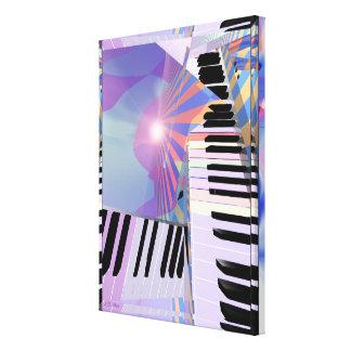 Befreiung von Tastatur-Musik Leinwanddruck