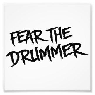 Befürchten Sie den Schlagzeuger Kunst Photo