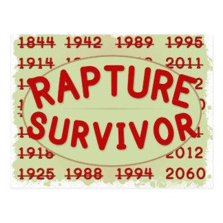 Begeisterungs-Überlebender Postkarte