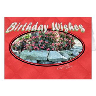 Begonie Geburtstag-fügen Ihre Wörter hinzu Karte