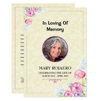 Begräbnis- Auftrag der Service Programmkarte Karte