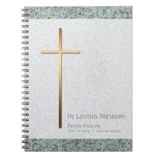Begräbnis- Erinnerungsgast-Buch des Spiral Notizblock