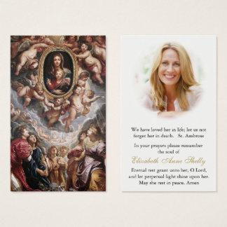 Begräbnis- Gebets-Karte Madonna Della Vallicella Visitenkarte