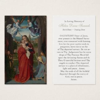 Begräbnis- Gebets-Karten-Jungfrau und Kind Visitenkarte
