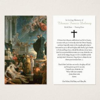 Begräbnis- Gebets-Karten-Wunder von St Francis Visitenkarte