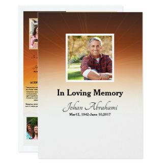 Begräbnis- Programm-Karten-Schablone Karte
