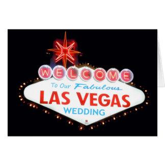 Begrüßen Sie zu unserer Las Vegas-Hochzeits-Karte Karte