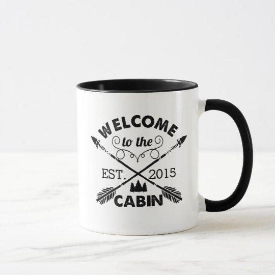 Begrüßen Sie zum rustikalen Landhaus der Kabinen-| Tasse