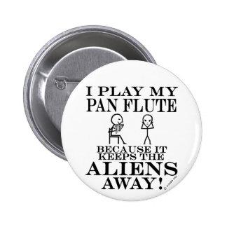 Behält Außerirdische-wegwannen-Flöte Anstecknadel