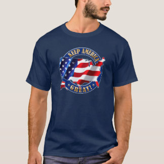 Behalten Sie Amerika groß! Trump Slogan-T - Shirt