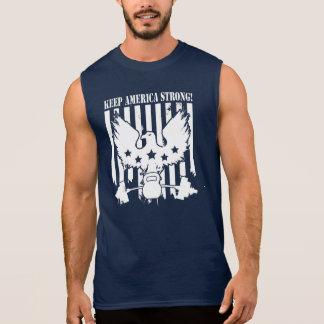 Behalten Sie Amerika stark (ADLER, KETTLEBELL, Ärmelloses Shirt