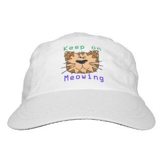 Behalten Sie auf Meowing Headsweats Kappe