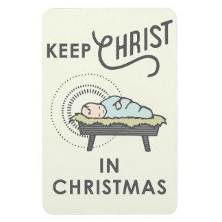 Behalten Sie Christus im Weihnachtsauto-Magneten Magnet