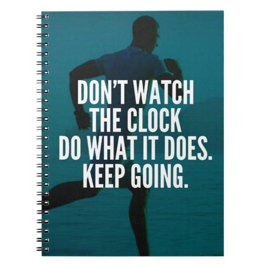 Behalten Sie das Gehen - der motivierend Workout Spiral Notizblock