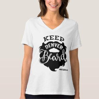 """""""Behalten Sie der V-Hals der Denver-Bart-"""" Frauen T-Shirt"""