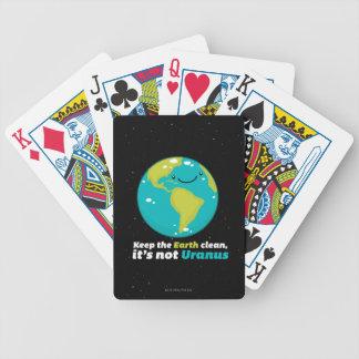 Behalten Sie die Erde sauber Bicycle Spielkarten