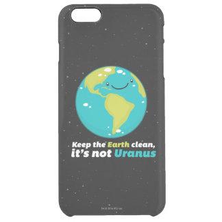 Behalten Sie die Erde sauber Durchsichtige iPhone 6 Plus Hülle