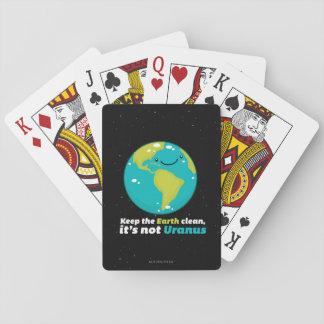 Behalten Sie die Erde sauber Spielkarten