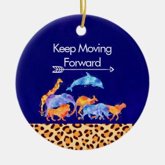 Behalten Sie die wilden Tiere vorwärts befördern, Keramik Ornament