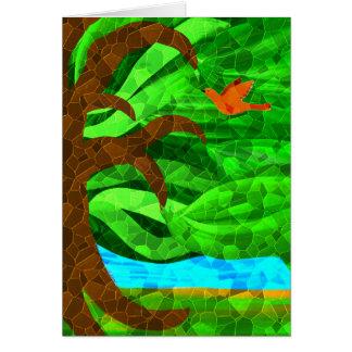 Behalten Sie einen grünen Baum in Ihrer Herzkarte Karte