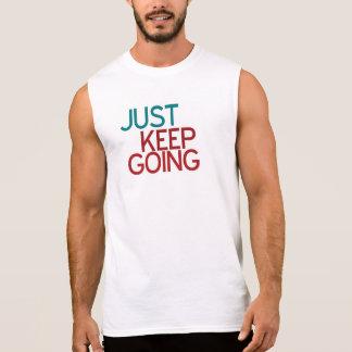 Behalten Sie einfach gehende Fitness-Spitze Ärmelloses Shirt