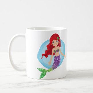 Behalten Sie einfach Schwimmen-Meerjungfrau-Schale Tasse