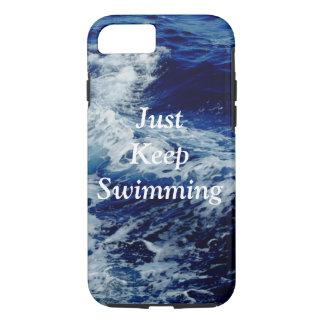 Behalten Sie einfach Schwimmen-Telefon-Kasten iPhone 8/7 Hülle