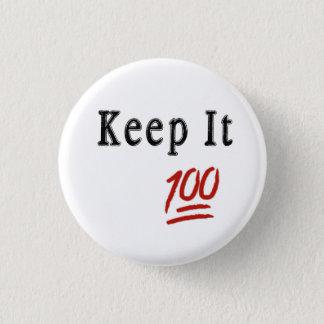 Behalten Sie es 100 Pinback der Knopf Runder Button 3,2 Cm