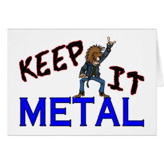 Behalten Sie es Metall Karte