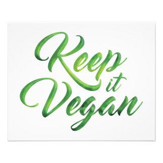 Behalten Sie es veganes glückliches Zitat 11,4 X 14,2 Cm Flyer