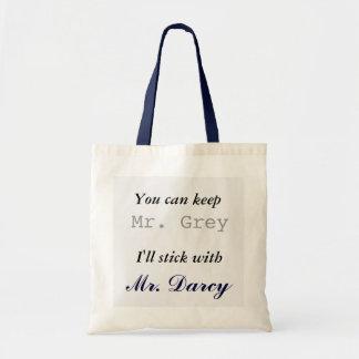Behalten Sie Herrn Grey I haftet mit Herrn Darcy Tragetasche